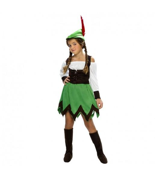Disfraz de niña Robin Hood