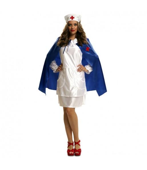 Disfraz Enfermera Capa Azul