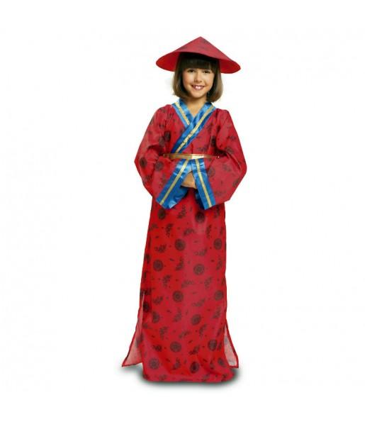 Disfraz de China chica roja