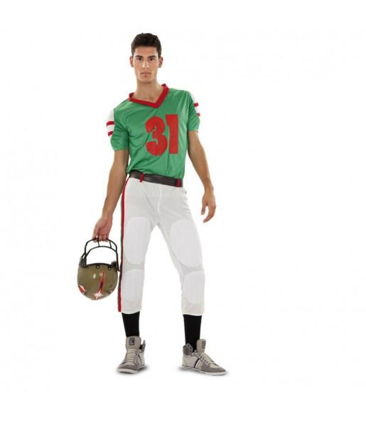 Disfraz de Jugador Rugby Verde