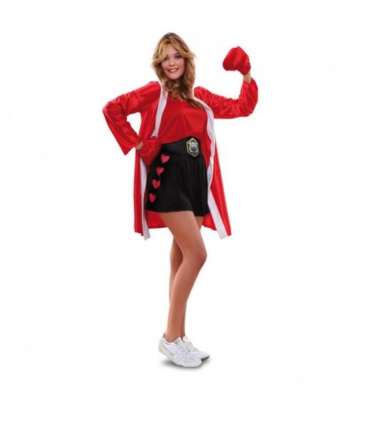 Disfraz de Boxeadora Roja chica