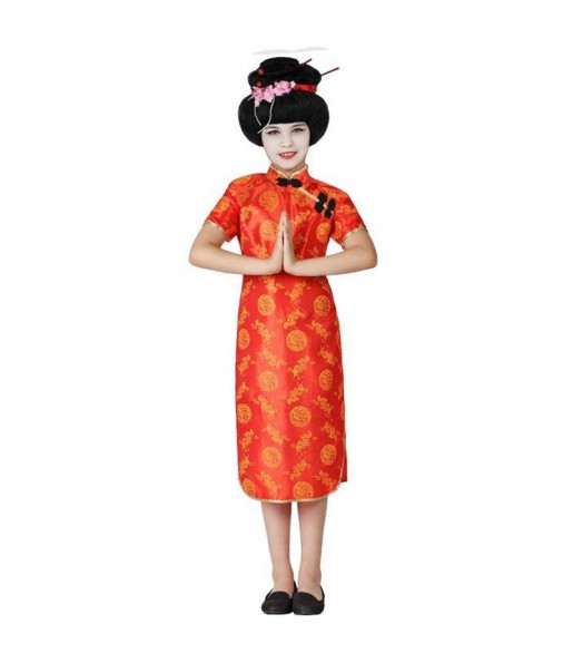 Disfraz de China Roja para niña