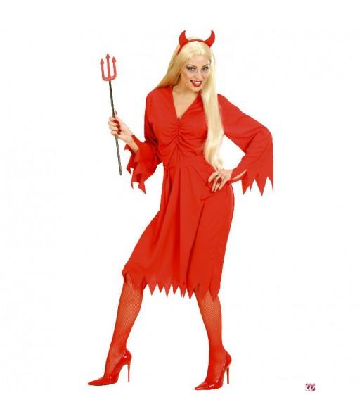 Disfraz de Diablesa roja mujer barato