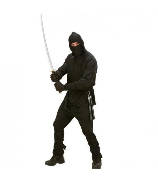 Disfraz de Ninja Negro adulto