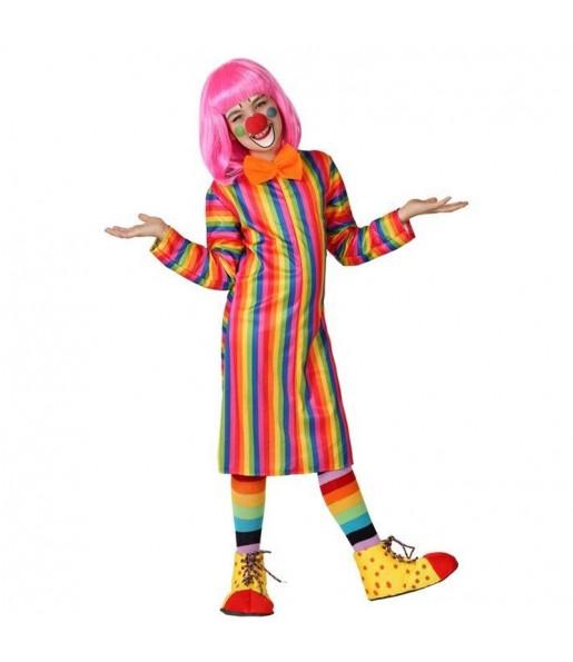 Disfraz de Payasa Rayas Multicolor para niña