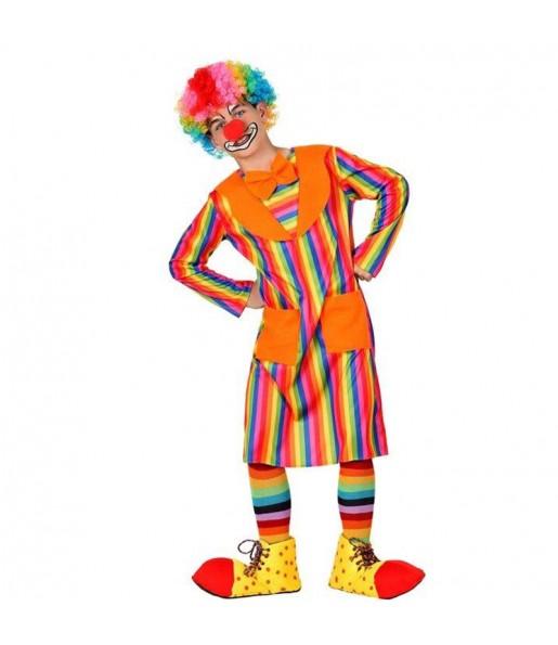 Disfraz de Payaso Rayas Multicolor para niño