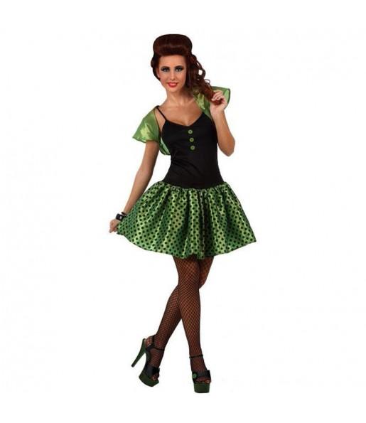 Disfraz de Chica Años 60 Verde