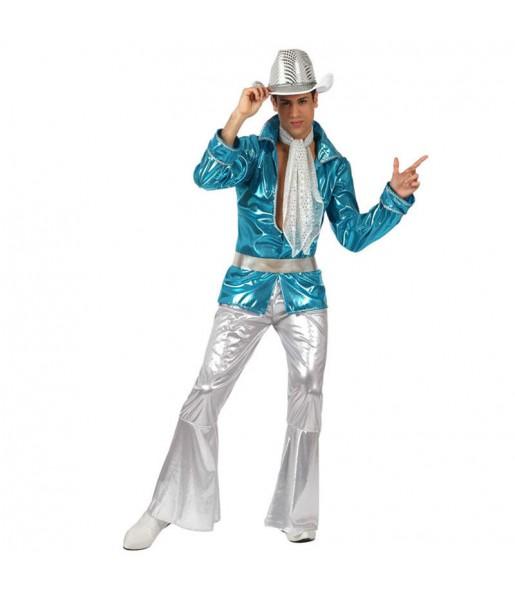 Disfraz de Disco Azul