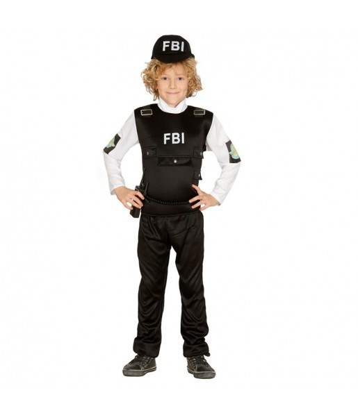 disfraz policía FBI infantil