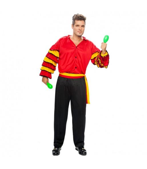 Disfraz de Rumbero Rojo adulto