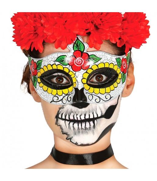 Antifaz Catrina Esqueleto Mexicano