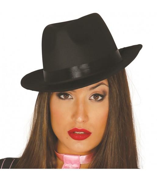 Sombrero Gánster Negro Lujo