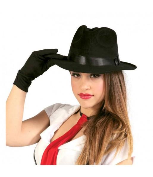Sombrero de Gánster Negro