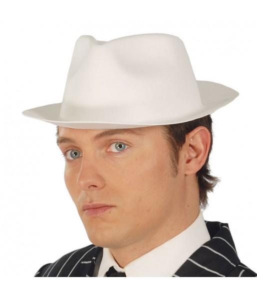 Sombrero gánster foam blanco
