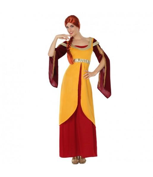 disfraz dama medieval elegante adulto