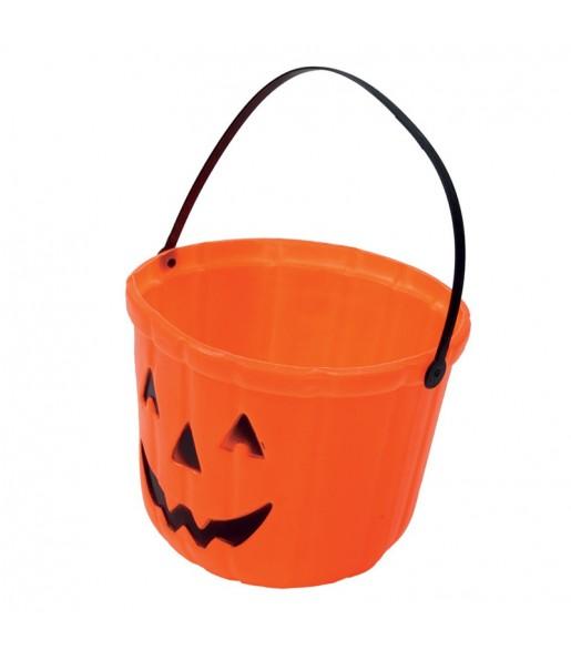 Cubo Calabaza Halloween caramelos