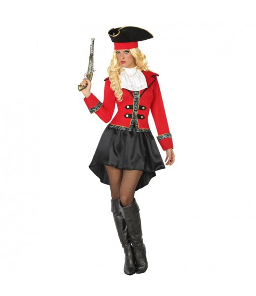 disfraz capitana pirata garfio adulto