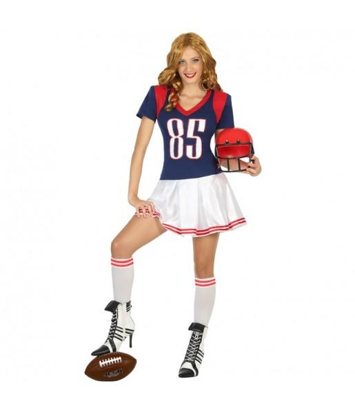 disfraz jugadora rugby adulto
