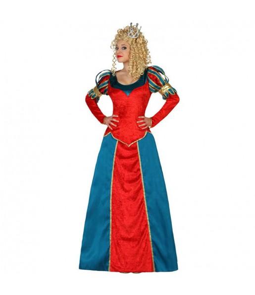 Disfraz de Reina Medieval Lujo edad media
