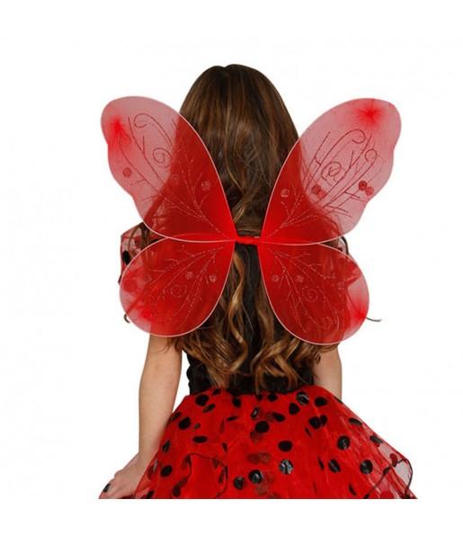 Alas de mariposa rojas