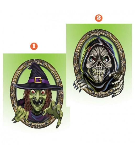 Letrero Monstruos Halloween decoración