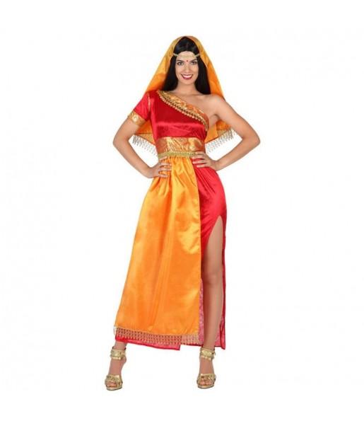 Disfraz de Hindú Bollywood Mujer naranja