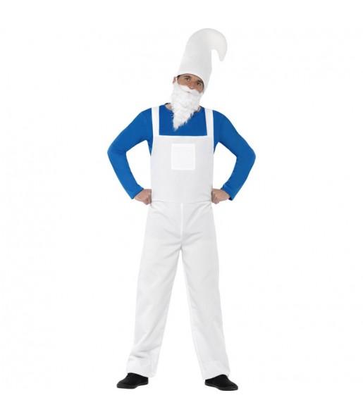 Disfraz de Hombre Gnomo Azul hombre los pitufos
