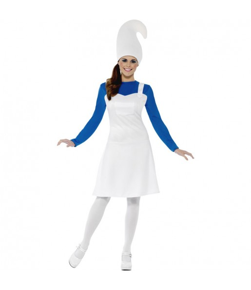 Disfraz de Mujer Gnomo Azul mujer los pitufos