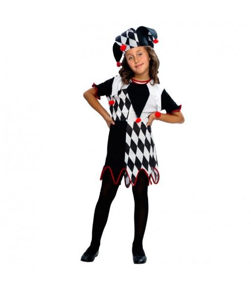 Disfraz de Bufona Rombos niña