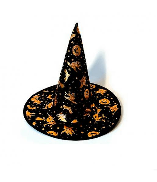Sombrero Bruja Tela Halloween