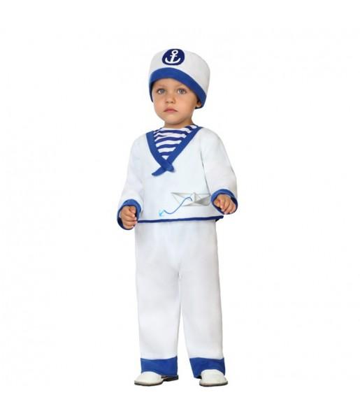 Disfraz Marinero Blanco Bebé