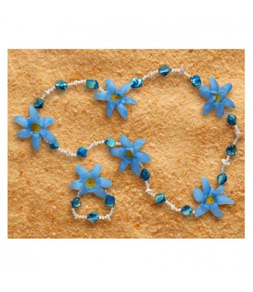 Collar y Pulsera Azules