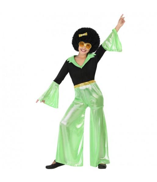 Disfraz de Disco Verde Niña
