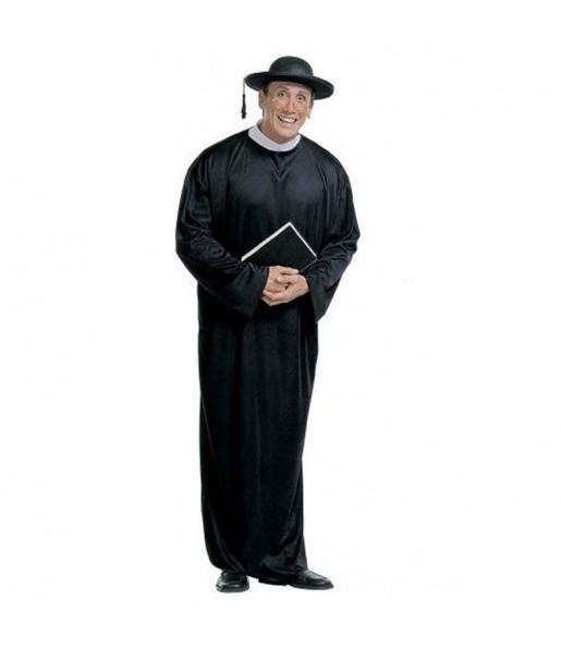 Disfraz de Cura Negro adulto