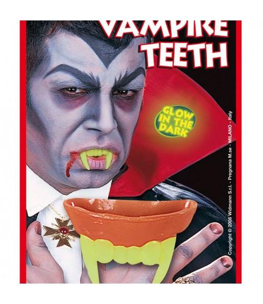 Dentadura vampiro fluorescente