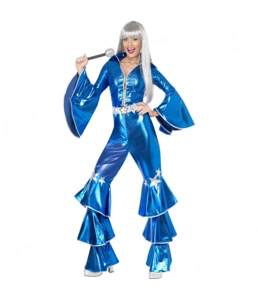 Disfraz Chica Disco Dancing Azul para mujer