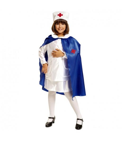 Disfraz de Enfermera Capa Azul niña