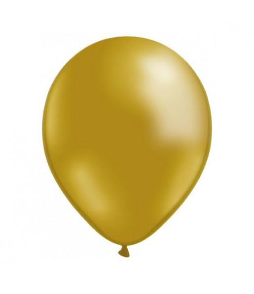 50 Globos Metalizados Oro helio