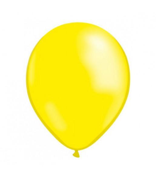 50 Globos Metalizados amarillo helio
