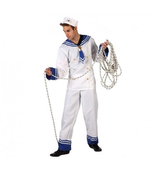 Disfraz de Marinero Blanco adulto