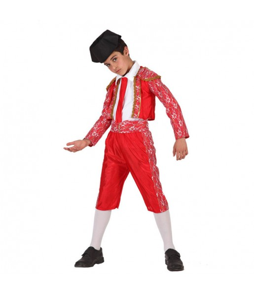 Disfraz de Torero Rojo infantil