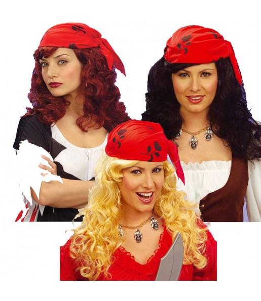 Peluca pirata pañuelo