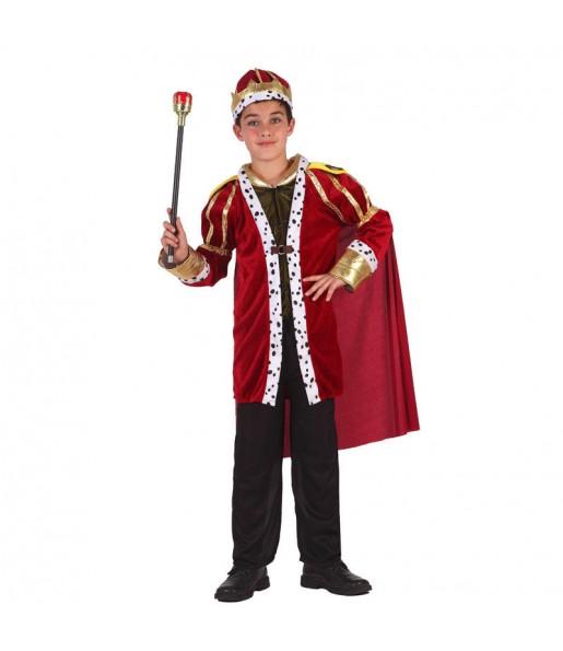 Disfraz de Rey Medieval Lujo infantil