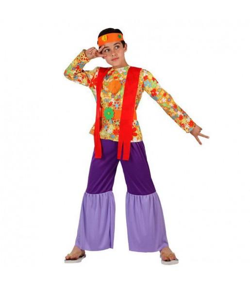 Disfraz de Hippie Psicodélico niño