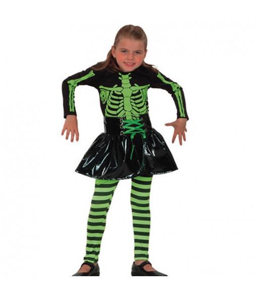 Disfraz de Esqueleto Fluorescente niña