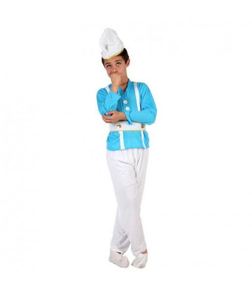 Disfraz de Duende azul para niño