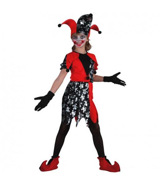Disfraz de Bufona Calaveras niña