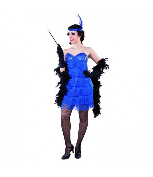 Disfraz de Charlestón Azul