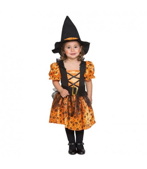 Disfraz de Bruja Mini Naranja