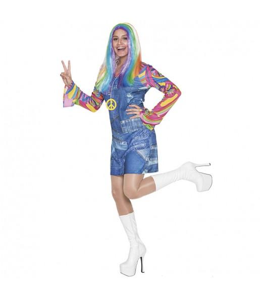 disfraz hippie vaquero mujer adulto